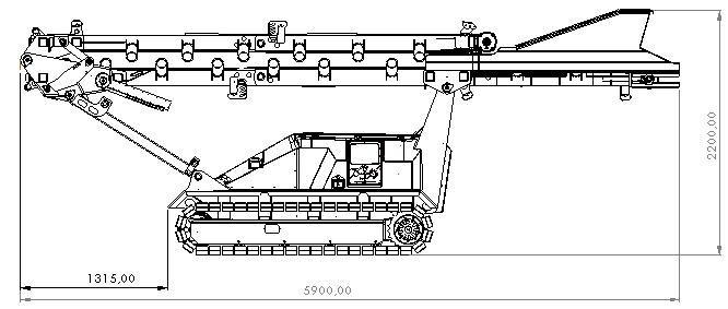 Plan du Convoyeur mobile compact sur chenilles SEBA TC 10