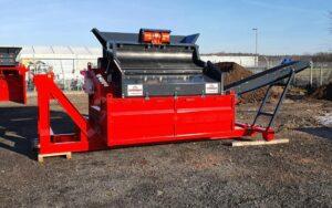 Crible 2 étages 3m² SEBA LS26 déplié prêt à l'utilisation. Machine disponible en vente et en location dans les agences Lheureux de toute la France