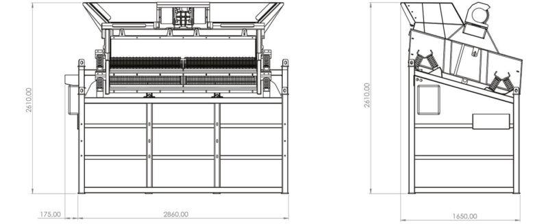 Plan du crible Crible Mobile Compact 2 étages 3m² SEBA LS26