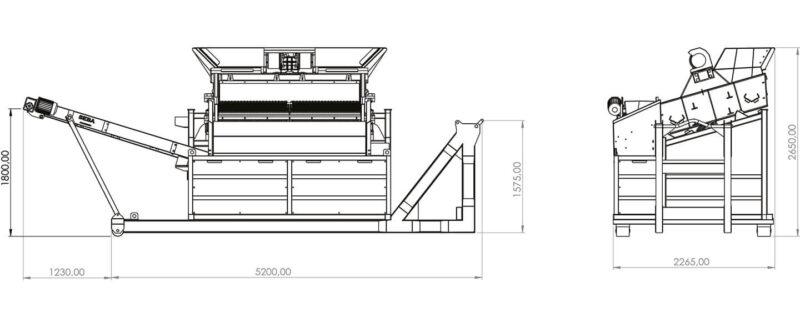 Crible 2 étages 3m² SEBA LS26 H - Convoyeur de fines (4)