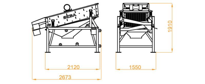 Crible 2 étages 1.6m² - SEBA LS28