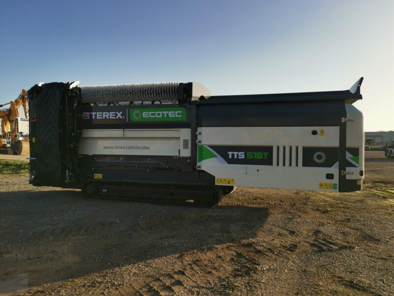 crible trommels ECOTEX TTS 518T sur chenilles en vente et location chez Lheureux