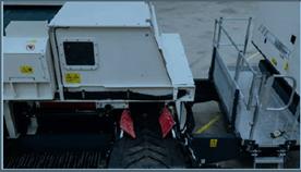 Chambre de séparation des non ferreux amovible permettant d'optimiser le débit de matière tout en garantissant un repli de la machine dans une position de transport de 3m de large du Séparateur à courant de foucault TMS 320 - Terex Ecotec