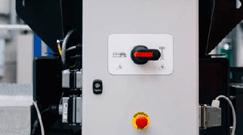 communicateur qui permet de passer le moteur thermique et brancher directement la marchine sur le réseau électrique du Séparateur à courant de foucault TMS 320 - Terex Ecotec