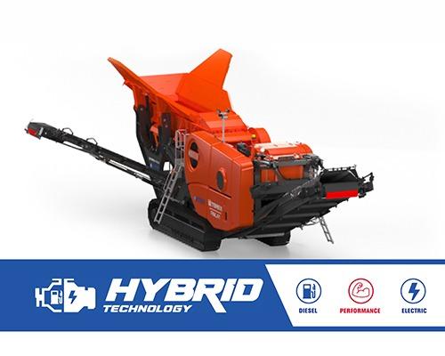 Visuel du Concasseur à mâchoires Terex Finlay J-1280, diesel, performant et électrique. Machine disponible chez Lheureux